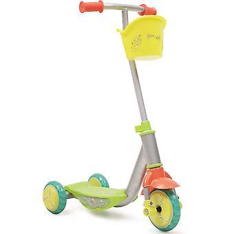 Kinder scooter L007D Fun/Star, 3 silicone banden, met muziek, licht, mand op het stuur