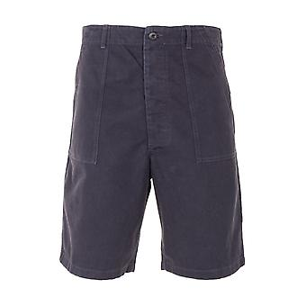 Maharishi Utility 3RD Pattern Organic Cotton Sateen Shorts - Black