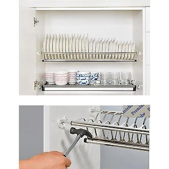 Armário de armário de aço inoxidável de 2 níveis chato diy de 2 níveis dentro da placa de prato