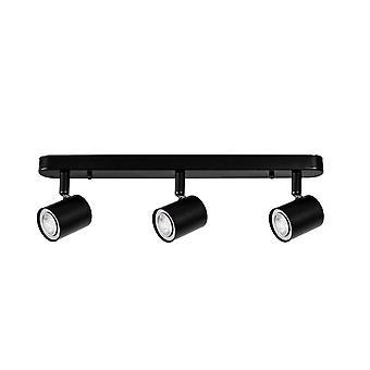Forlight Keeper Triplex - Kolminkertainen säädettävä spottipalkki GU10 Musta