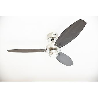 """Ceiling fan Jet Nickel 105cm / 42"""" with pull chain"""