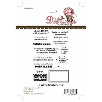 Little Darlings Stamp - Coffee Sentiments
