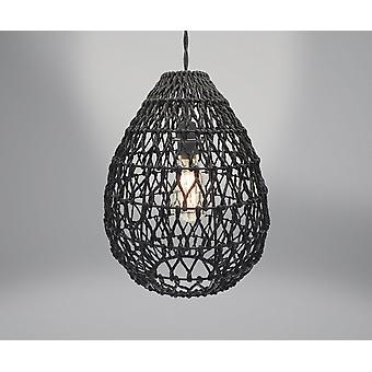 Country Club Woven Light Shade, Black