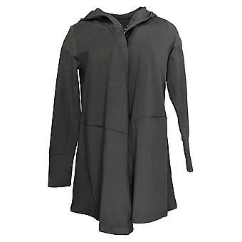 Zuda Women's Sweater XXS Z-Ultrasoft Hooded Long-Sleeve Cardigan Gray A371978