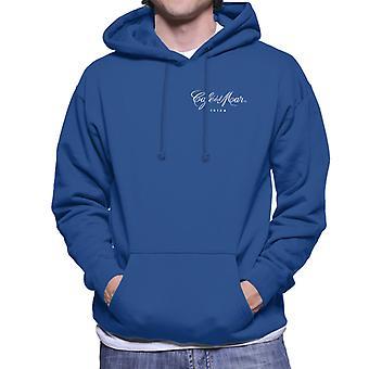 Cafe del Mar Classic White Logo Pocket Print Men's Hooded Sweatshirt