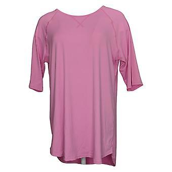 Cuddl Duds Women's Top Smart Comfort Short Sleeve Tee Pink A346880