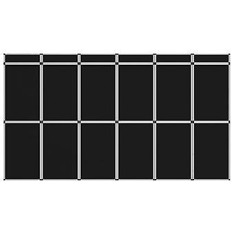 vidaXL 18-Panel Exhibition Wall Folding Display 362×200 cm Black
