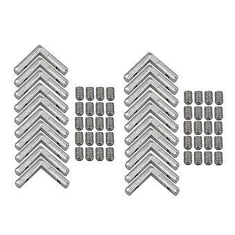 20Pcs L-Shape Intérieur Coin Connecteur Joint Support pour Al. Profil