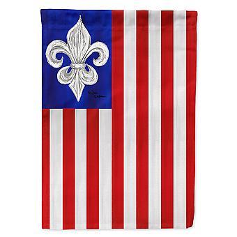 Caroline's Treasures 8138Chf Usa Fleur De Lis Patriotic American Flag Canvas, Grande, Multicolore
