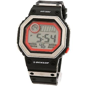Dunlop watch dun-77-g01 black band-red