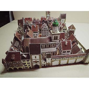 Kaupunkirakennus 3D-paperimalli, Diy Käsinteketty
