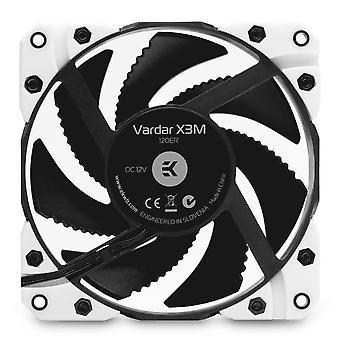 EK Vattenblock EK-Vardar X3M 120mm (500-2200 rpm) Fläkt - Vit