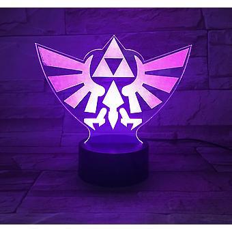 Legend Of Zelda 3d Led Night Light Kids Bedroom Table Lamp