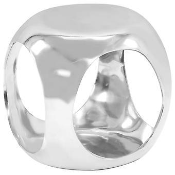 vidaXL الجانب الجدول يلقي الألومنيوم 35 × 35 × 35 سم فضة
