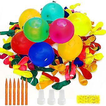 Wasserbomben Set mit 1000 Wasser Luftballons Wasserballon mit Gummibänder und Füllen Instrument für