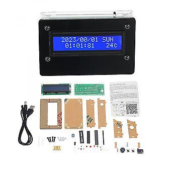 Cyfrowy zestaw zegarowy z akrylowym etui