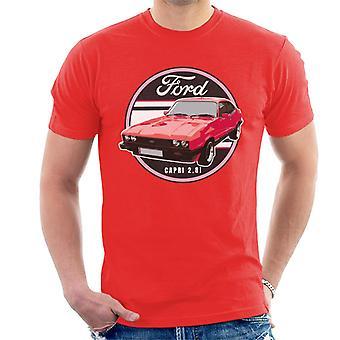 Ford Capri Punainen 2 8I Miesten t-paita