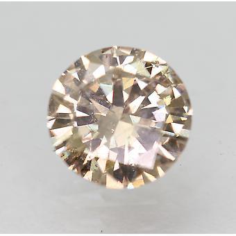 Cert 0.58 Carat ght Brown VS2 Round Brilliant Enhanced Natural Diamond 5.63mm