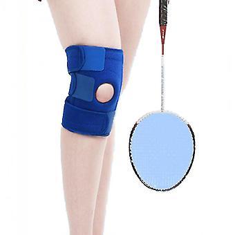 Een paar buitensportfitness klimmen kniebeschermers (blauw)