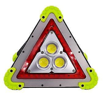 Luz de advertencia de trípode portátil LED para automóviles, linterna USB para acampar al aire libre (verde)