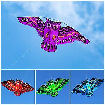 Tecknad uggla flygande drakar för vuxna utomhus roliga sportleksaker
