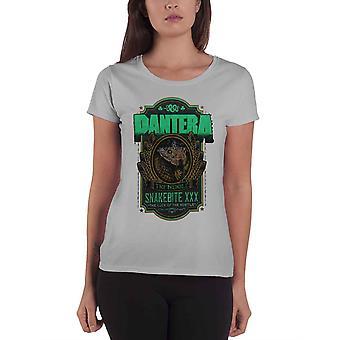 Pantera T Shirt Snakebite XXX Etikett nya officiella womens skinny fit heather grey