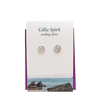 Celtic Spirit Stud Earrings Card by The Silver Studio
