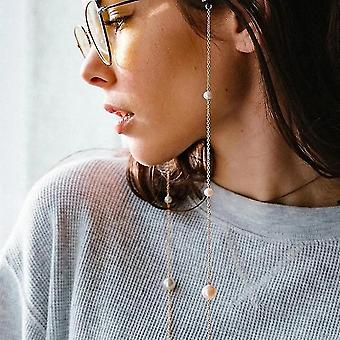 Casual Pearl Beaded Chain For Eye Glasses