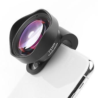 75mm 10x Macro Lens HD fără distorsiuni 17mm filetat SLR Clip, potrivit pentru Apple, Huawei, Xiaomi