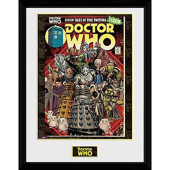 Doctor Who skurkar Comic inramade Collector Print