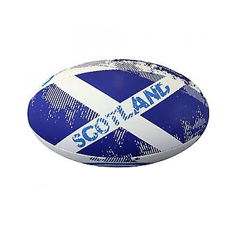 Optimum Sport Hand Stitched Rubber Scotland Rugby Ball - Mini
