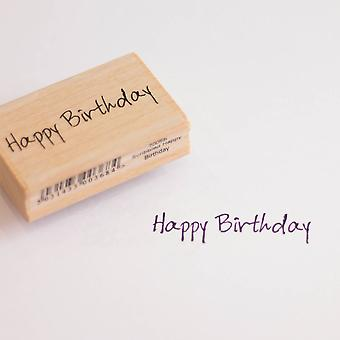 Happy Birthday Rubber Stamp   Greetings Craft Scrapbook Card Tag Making