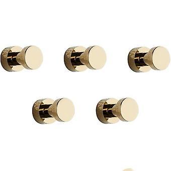 5kpl Luxury Gold Vaatteet Koukku Seinäovi