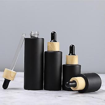 Scandinavische stijl druppelaar amber glas berijpte opslag flessen (10ml)