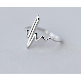 Minimalistisch verstellbarer Silberschmuck geometrische Ringe für Frauen (Syjz035)