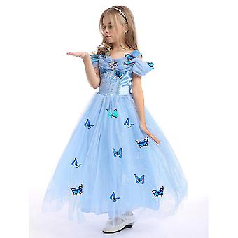 Girls Cinderella Butterfly Princess Cosplay Party Costume Dress