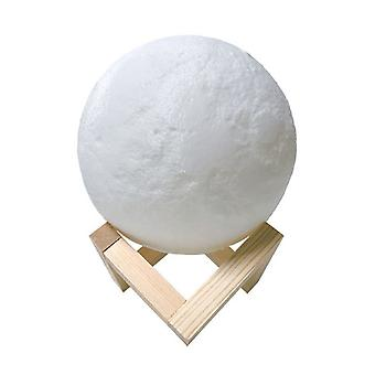 أدى ضوء الليل 3D القمر الطباعة مصباح القمر ضوء اللمس التحكم Usb شحن الخفيفة 18cm (16 لونا)