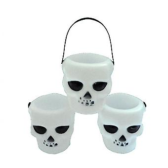 Venalisa 6 Pack Candy Kettles, Witch Skeleton Small Basket, Halloween Decoration Supplies