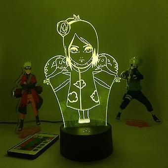3d Led Night Light Lamp Anime Naruto Konan
