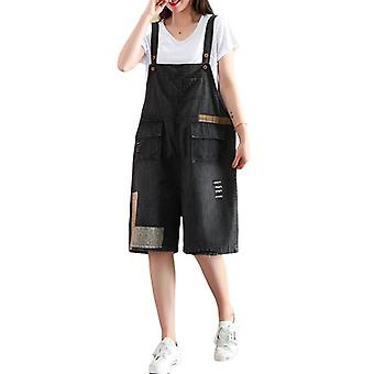 Woman Loose Overalls Demin Pants Casual Jeans