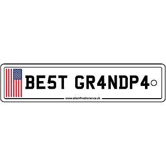 USA - Best Grandpa License Plate Car Air Freshener