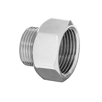 Pipe connection  fittings chrome female x male 1/2
