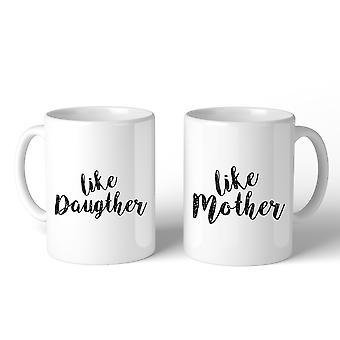 Like Daughter Like Mother White Mom Daughter Matching Mug Mom Gifts