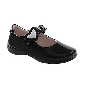 Lelli Kelly Colourissima Mary Jane Black Patent School Shoes