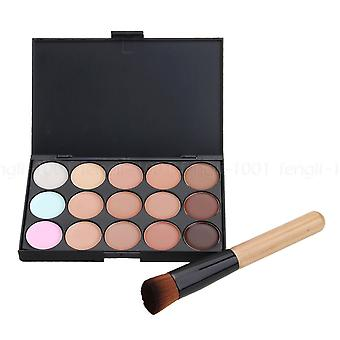 Boolavard 15 Colours Face Contour Makeup Camouflage Palette Cream Concealer Kit with Brush