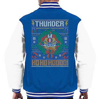 Thundercats Ho Ho Hoooo Christmas Knit Pattern Men's Varsity Jacket