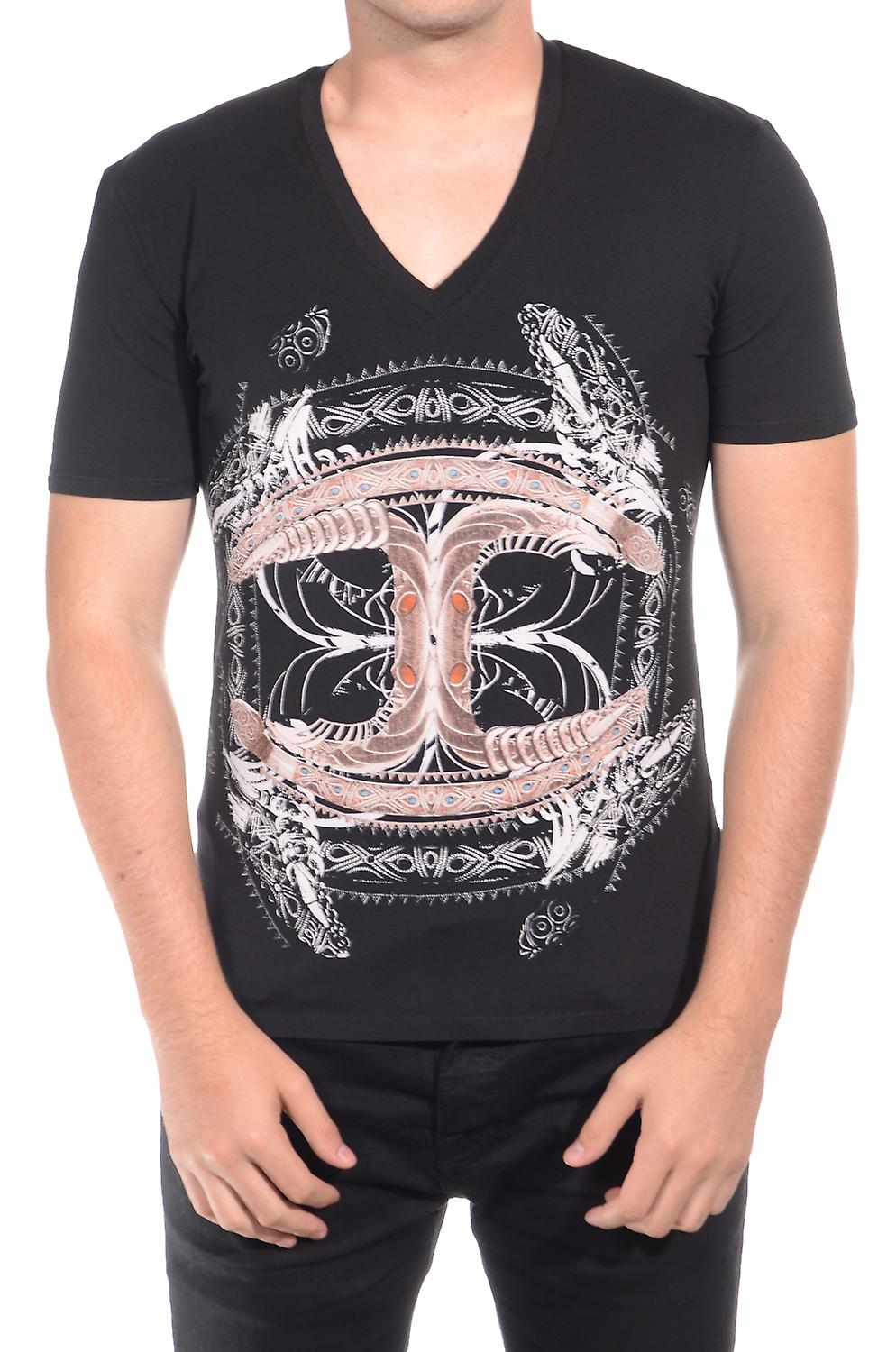 Just Cavalli Men Cultured T-Shirt Black