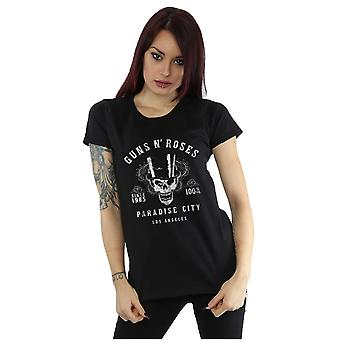 Guns N Roses Women's Whiskey Label T-Shirt
