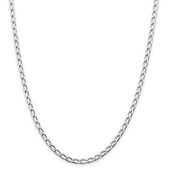 925 סטרלינג כסף מוצק מלוטש 4.3mm צמיד שרשרת שרשרת שרשרת לובסטר טופר מתנות תכשיטים לנשים - אורך: 7 עד 8