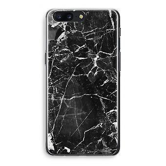 OnePlus 5 Transparant Case (Soft) - Black Marble 2